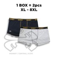 Celana Dalam Boxer Pria Warna Hitam dan Abu Bigsize / Jumbo Sampai 8XL