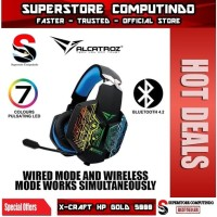 Alcatroz X-Craft HP Gold 5000- Wireless Bluetooth Gaming Headset