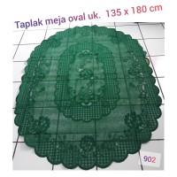Taplak meja oval home living + ukuran 135x180cm + 902 bawang