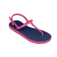 Sandal Casual / Sandal Fipper Strappy Blue Snorkel Red Ruby