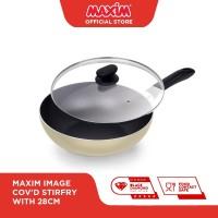 Maxim Image Teflon 28cm Wajan Stirfry + Tutup Kaca
