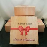 Box kue/kotak kue/dus snack/Box makanan/DUS MEGA GS-18x18@50LBR