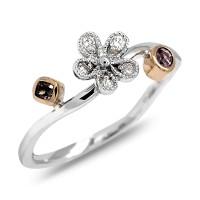 Cincin Berlian Fancy Color diamond Ring 0.13 karat