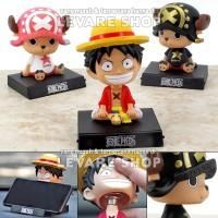 Boneka Pajangan Dashboard Mobil - Anime One Piece Luffy Tony Chopper