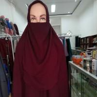 Jilbab Segi Empat Instan NAOMI Plus Cadar By NAFIS