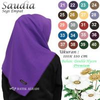 Kerudung Segi Empat Jilbab Saudia Rawis Warna Polos (JSP002)
