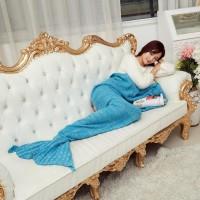 KS Selimut Rajut Model Putri Duyung 80 X 190 CM - Pink