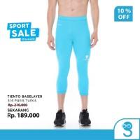 Tiento Man 3/4 Pants Turkis Celana Legging Sebetis Olahraga Pria