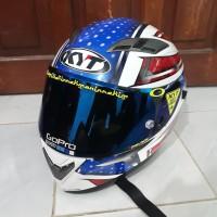 Helm Fullface KYT Vendeta 2 Allstar Include Spoiler 3D n Iridium Flat