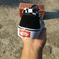 Sepatu Vans Old Skool Checkerboard Grade Ori Hitam Putih Casual Pria