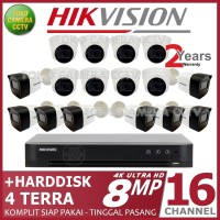 PAKET CCTV HIKVISION 8MP 16 CHANNEL HDD 4TB