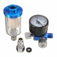 Regulator Air: Regulator Tekanan Air Mengukur Semburan Air & Saringan