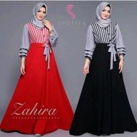 Baju Pakaian Zahira Maxi Dress Baju Muslim Gamis Syari Wanita Terbaru