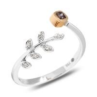 Cincin Kawin Berlian Asli Fancy Purple 0.12 crt Gold Ring 18K