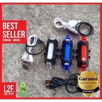 Lampu Belakang Sepeda / USB LED Tail Light Rechargeable Waterproof