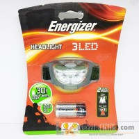 ENERGIZER HEADLIGHT 3 LED 30 LUMENS / SENTER KEPALA