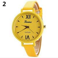 Jam tangan import wanita angka romawi warna kuning
