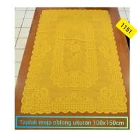 Taplak meja persegi panjang home living + oblong 100x150cm +1151