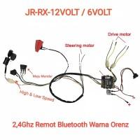1 Set Rangkaian Kabel Mesin Mobil Mainan Aki Bluetooth