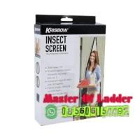 Krisbow Tirai Pintu Magnet Anti Nyamuk/Door Insect Screen 100x220 Cm