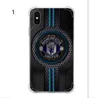 Softcase Anticrack Transparan Apple Iphone X Edisi Manchester United 1