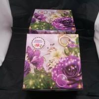 Box kue/kotak kue/dus snack/Box makanan/DUS LEG GS-BUNGA 20x20 @100pcs