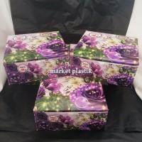 Box kue/kotak kue/dus snack/Box makanan/DUS LEG GS-BUNGA 18X18
