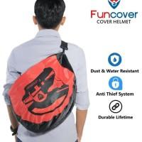 RainCoat COVER Sarung HELM anti air Tas HELM Motor Slingbag Funcover