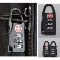 Swiss Gear Gembok Password Code 3 Angka - Kunci Tas Ransel Koper Bag