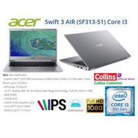 """ACER SWIFT 3 AIR SF313-51 - I3-8130U DDR4 4GB SSD 256GB 13.3"""" FHD W10"""