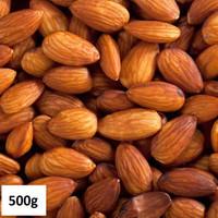 Kacang Almond Panggang Rasa Natural 500gr/Roasted Almond Natural