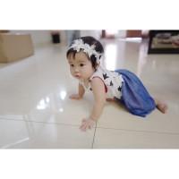 Baju dress anak perempuan motif bintang kode 018