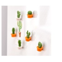 Magnet Kulkas Desain Kartun Kaktus Mini untuk Dekorasi Kulkas set isi6