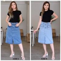 Rok Jeans Wanita / Skirt Midi Acid 5380