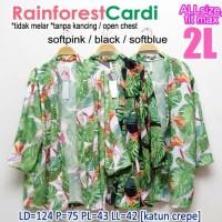 CARDIGAN XXL RAIN FOREST VINTAGE CARDI OUTER MUSLIM JUMBO 2L KARDIGAN