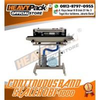Mesin Segel Plastik isi Gas Continuous Band Sealer HEAVYPACK DBF-1000
