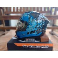 Helm INK CL Max Seri 6 Black Blue Full Face Biru Original