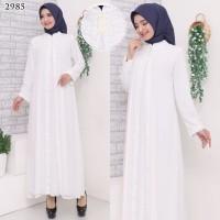 Gamis Putih Premium / Gamis Lebaran / Gamis Syari / Gamis Pesta 2540