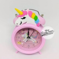 GREAT QUALITY JAM WEKER UNICORN / JAM KARAKTER / ALARM CLOCK UNICORN /
