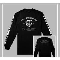 kaos baju T-shirt longsleeve Umar Bin Khattab Islam Keren 0827