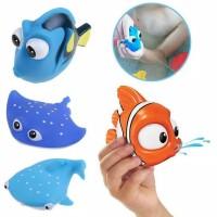 Mainan Mandi Bentuk Ikan Hewan Air Bahan Karet untuk Bayi / Anak