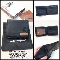 dompet pria hushpuppies 424SK black KWS dompet kulit dompet cowok