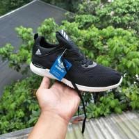 Terlaris Adidas Alphabounce Black / Hitam Sepatu Pria Wanita Running
