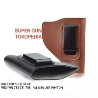 Holster Kulit -REVOLVER- REV-733-731-M36-PHYTON- Selip Universal ready
