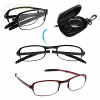 Kacamata Baca Plus Lipat Kotak Penyimpanan untuk Unisex/Pria/Wanita