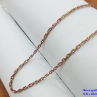 kalung titanium ring lilit Rose gold