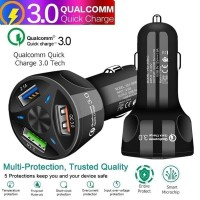 Car Charger 3 USB Ports 7A Quick Charge QC 3.0 Casan mobil YSY-395KC - Hitam