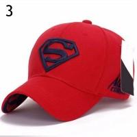 Topi Baseball Polyester Stretch Adjustable-Bordir Superman Ala Hip-Hop