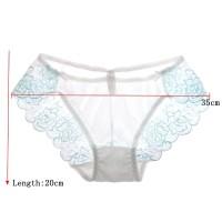 Celana Dalam Sexy Model Low Waist Bahan Mesh Transparan Breathable