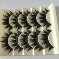5 Pasang Bulu Mata Palsu 3D Tebal Panjang Silang Natural Warna Hitam